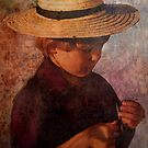 Amish Boy  Pennsylvania  USA by Marie Luise  Strohmenger