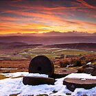 Stanage Sunset Peak District by Roy Childs