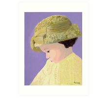 The Girl With The Straw Hat Art Print
