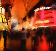 Fremont Street at Night by Dakin Costello