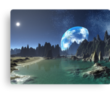 Earth-rise from an Alien Shore Canvas Print