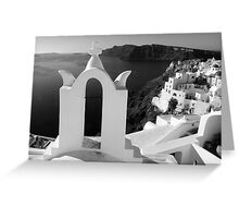 Overlooking the Caldera ~ Black & White Greeting Card