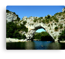 Pont d'Arc Canvas Print