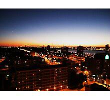 Windsor/Detroit Skyline at Sunset I Photographic Print