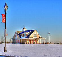 Beach house in the snow-full by henuly1