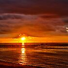 Frankston Pier Sunset by Phillip Haley