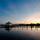 Roanoke Marshes Lighthouse At Dusk II by D. K. Sutton