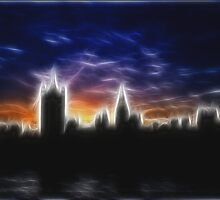 Skyline of London in Fractalius by Britta Döll