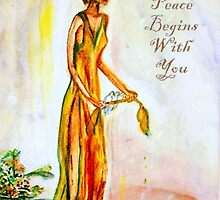 Allowing Peace Begins With You by Helena Bebirian