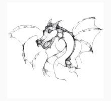 Dragon - Scribbler T-shirt by Lauren Eldridge-Murray