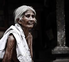 Bali - Indonesia: Elderly woman in family commune by Chris Bishop