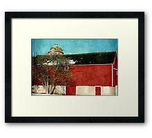 Old Red Barn ©  Framed Print