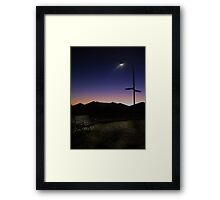 Lone bench Framed Print
