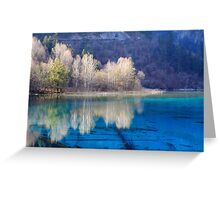 Five Flower Lake, Jiuzhaigou Valley, Sichuan, China Greeting Card