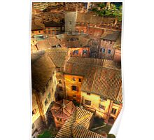SIENA FROM ABOVE Poster