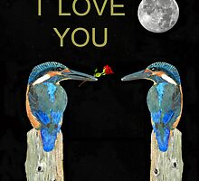 I love you kingfishers by Eric Kempson