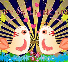 Love birds Valentine's day card by walstraasart