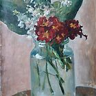 Red and white. Early flowers by Alla Melnichenko