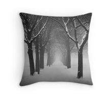 Archway in the snow Throw Pillow