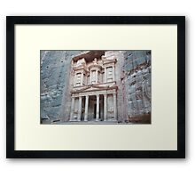 Close to sunset at al-Khazneh Framed Print