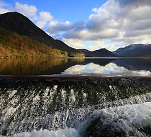 The Weir Crummock Water by Linda Lyon