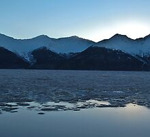 Turnagain Afternoon Sunset Reflected by Bob Moore