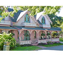 GingerBread Houses, Oak Bluffs,  Photographic Print