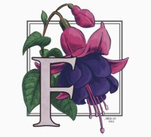 F is for Fuchsia - full image shirt by Stephanie Smith