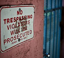 No Trespassing by Jonathan  Perlo