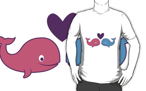 Whales in Love by jennartdesigns