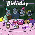 Zombie Party by peabody00