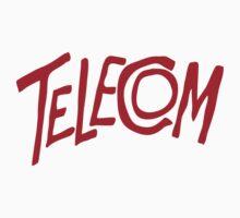 Telecom Logo Red by telecom