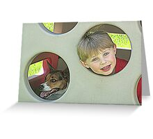 Dog and Boy Greeting Card