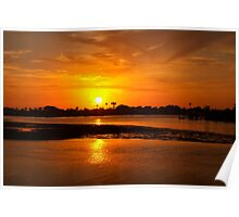 Bright gold sunset Poster