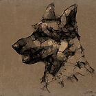 GermanShepherd Scribble by murals2go