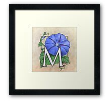 M is for Morning Glory Framed Print