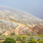 Double Rainbow at Split Mountain by Kim Barton