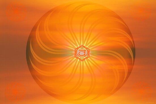 Sacral Chakra ~ Orange ~ Svadisthana ~ Female by Julia Harwood
