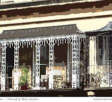 Cheltenham - Ornate Balconies by Sue Porter