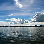 Clouds on the horizon. by debjyotinayak