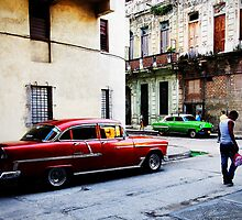 Street corner, early morning, Havana, Cuba by buttonpresser