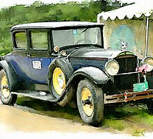 1929 Packard watercolour by PhotosByHealy
