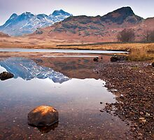 Blea tarn on a cold and frosty day by Shaun Whiteman