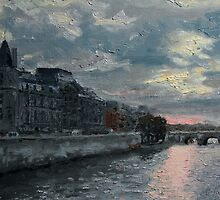Dusk Befalls the Seine by Jeffery Sparks