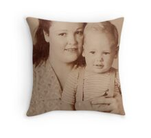 Byron and his Mom Throw Pillow