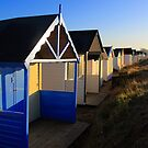 Heacham Beach Huts by Norfolkimages