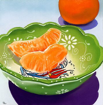 Gift Bowl - pastel painting still life by ria hills