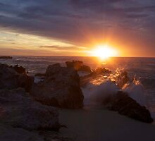 Sunset on Western Australia Trigg Beach by Carol Trim