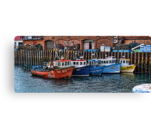 Crab Boats, Scarborough. Canvas Print