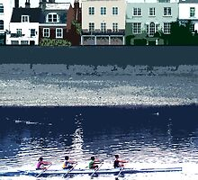 Barnes - Rowing on the Thames  by Sue Porter